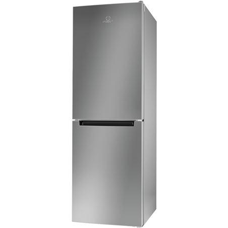 Indesit frigoríficos combinados inox LI7 FF2 S B