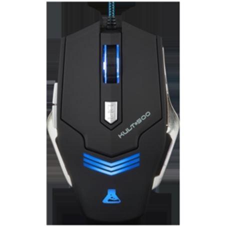 Raton gaming Bluestork KULT500 negro/azul
