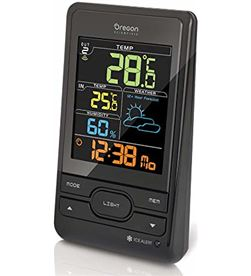 Oroley estacion meteorologica oregon bar206sx negra lcd colores - BAR206SX