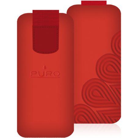 Puro funda nabuk ipod nano 5g vermella nbf3012