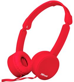 Auriculares diadema Trust nano summer micrófono manos libres rojos 23105 - TRU23105