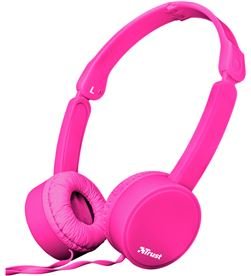 Auriculares diadema Trust nano summer micrófono manos libres plegables rosa 23102 - TRU23102