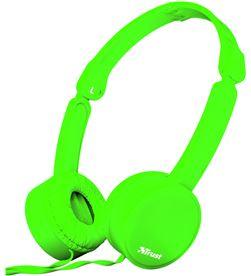 Trust 23101 auriculares diadema nano summer micrófono manos libres plegables verd - TRU23101