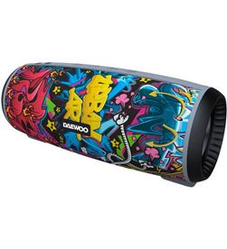 Altavoz portátil Daewoo dbt-10 bluetooth 12 w radio fm microsd usb graffiti DBF260 - DAEDBF260