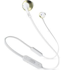 Jbl t205bt blanco cromo auriculares ergonómicos con micrófono integrado con T205BT WHITE CH - +20918