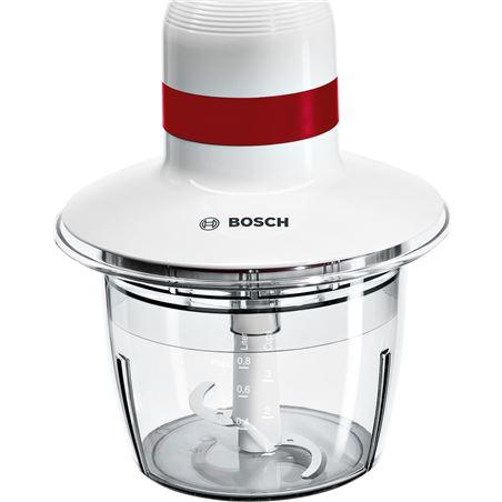 Bosch picadora/chopper, 400w; blanco y rojo. mmrp1000