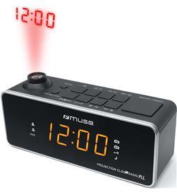Muse M-188 P negro radio analógica sobremesa fm/am snooze con proyector de - +21352