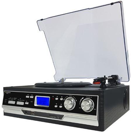 Giradiscos Sunstech pxr22 radio funcion encoding negro PXR22BK