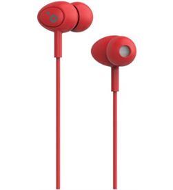 Sunstech POPSRD auriculares boton pops microfono rojo - POPSRD