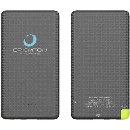 Power bank Brigmton 5000 mah lightning/micro usb negro BPB50N