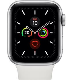 Apple watch series 5 plata con correa deportiva blanca reloj 40mm smartwatc S5 40 MWV62TY/A - +21478