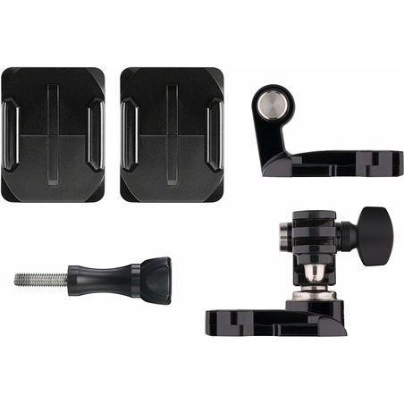 Gopro go pro ahfsm-001 soporte frontal y lateral para casco