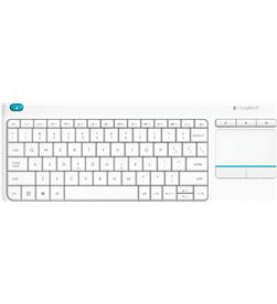Teclado inalámbrico Logitech wireless touch blanco keyboard k400 plus - m 920-007138 - LOG-TEC 920-007138