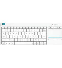 Teclado inalámbrico Logitech wireless touch blanco keyboard k400 plus - m 920-007138 - LOG-TEC 920-007138
