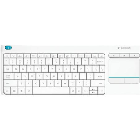 Teclado inal�mbrico Logitech wireless touch blanco keyboard k400 plus - m 920-007138