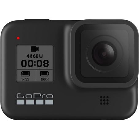 Gopro go pro hero8 negro cámara deportiva 12mp uhd 4k60 1080p240 táctil superfoto hero8 black