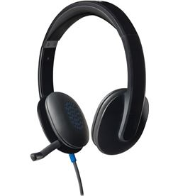 Logitech -AUR H540 NEGRO auriculares diadema con microfono h540 control volumen en cascos u 981-000480 - LOG-AUR H540 NEGRO
