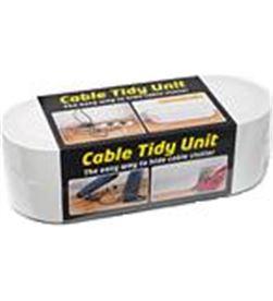 Organizador de cables Vivanco 37692 dline blanco - para guardar regleta y c - VIV-ORG 37692
