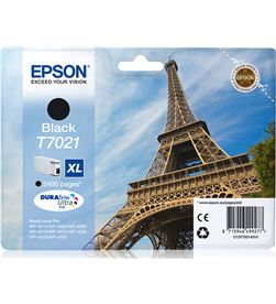 Cartucho tinta negro Epson t7021xl - 45.2ml - torre eiffel - para wp-4595 / C13T70214010 - EPS-T70214010