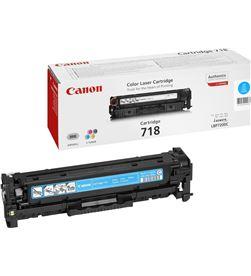 Toner cian Canon 718c - 2900 páginas para impresoras i-sensys lbp7660cdn 2661B002 - CAN-718C