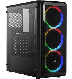 Aerocool SI5200RGB caja semitorre - usb 3.0/2*usb 2.0 - 3*ventiladores rgb - AER-CAJA SI5200RGB
