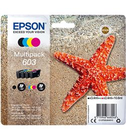 Multipack tinta Epson 603 4 tintas cyan magenta amarillo negro C13T03U64010 - EPSC13T03U64010