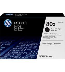 Hp CF280XD toner negro nº80x dual pack 6900 páginas para laserjet pro 400 m401 / - CF280XD