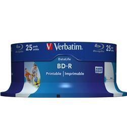 Tarrina 25 unidades Verbatim 43811 - blu-ray bd-r - 25gb - 6x - printable - VERB-BD-R 43811