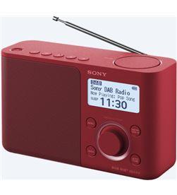Sony XDR-S61D ROJO radio dab/dab+ portátil con pantalla lcd presintonías di - +98122