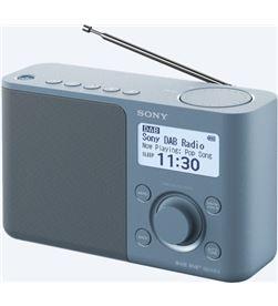 Sony XDR-S61D AZUL radio dab/dab+ portátil con pantalla lcd presintonías di - +98121