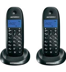 Motorola c1002lb+ negro teléfono fijo inalámbrico pack duo con manos libres C1002LB+ DUO NE - +96907