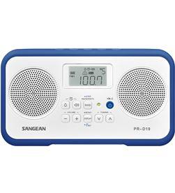 Sangean pr-d19 blanco azul oscuro radio digital portátil fm am pantalla lcd PR-D19 DARK BLU - +20774