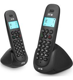 Spc 7312N teléfono dect telecom art duo negro Telefonía doméstica - TLC7312N