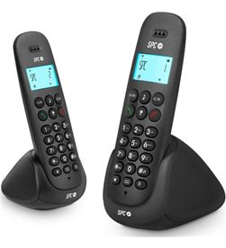 Spc teléfono dect telecom art duo 7312n negro Telefonía doméstica - TLC7312N