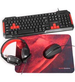 Set Mars gaming MRCP1 - teclado 10 teclas función - ratón 2800dpi - alfombr - TAC-SET MRCP1