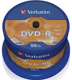 Dvd-r Verbatim advanced azo 16x 4.7gb tarrina 50 unidades 43548 - VERB-DVD-R 4.7GB 50U