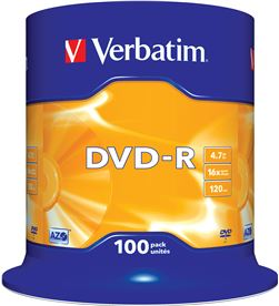 Dvd-r Verbatim advanced azo 16x 4.7gb tarrina 100 unidades 43549 - VERB-DVD-R 4.7GB 100U
