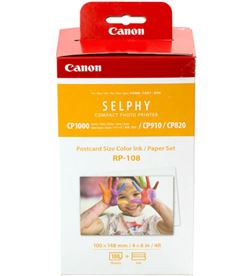 Canon -MULTIPACK 8568B001 multipack rp-108 cartucho tinta color + papel fotográfico - imprime h - CAN-MULTIPACK 8568B001
