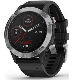 Reloj deportivo con gps Garmin fénix 6 plata/negro con correa negra - carca 010-02158-00 - GAR-RELOJ 010-02158-00