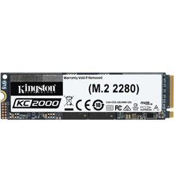 Disco sólido Kingston kc2000 1tb - pcie gen 3.0 - m.2 2280 - lectura 3200 SKC2000M8/1000G - KIN-SSD SKC2000M8 1000G