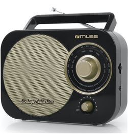 Muse M-055 RB negro oro radio analógica fm/am con altavoz integrado - +21707