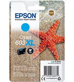 Cartucho tinta cian Epson 603xl - 4ml - estrella mar - compatible según esp C13T03A24010 - EPS-C13T03A24010