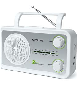 Muse m-06sw blanco plata radio analógica fm/am con altavoz integrado M06SW - +21853