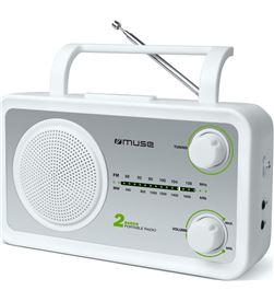 Muse M06SW m-06sw blanco plata radio analógica fm/am con altavoz integrado - +21853
