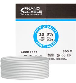 Todoelectro.es bobina de cable nanocable 10.20.0304 - rj45 - cat5e - utp - awg24 - 305m - - NAN-CAB 10 20 0304