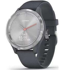 Reloj inteligente con gps Garmin vivomove 3s color plata con correa azul - 010-02238-00 - 010-02238-00
