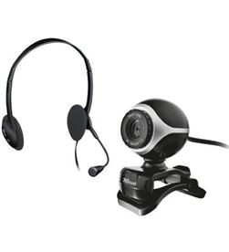 Webcam con auriculares con micrófono Trust exis chatpack 640x480 usb2.0 pin 17028 - 17028