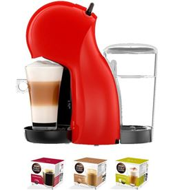 Cafetera+3 paq cafe dolce gusto Delonghi piccolo xs roja edg210r PACKEDG210R(3P) - 8436564622563