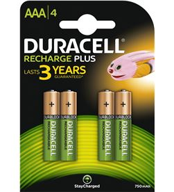 Duracell HR3-B pack 4 pilas aaa recargables - nimh - 1.2v -750mah - DRC-PILA HR3-B