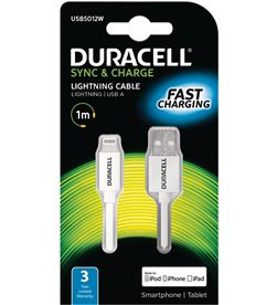 Cable Duracell USB5012W usb-lightning - para carga y sincronización - 1 me - DRC-CABLE USB5012W